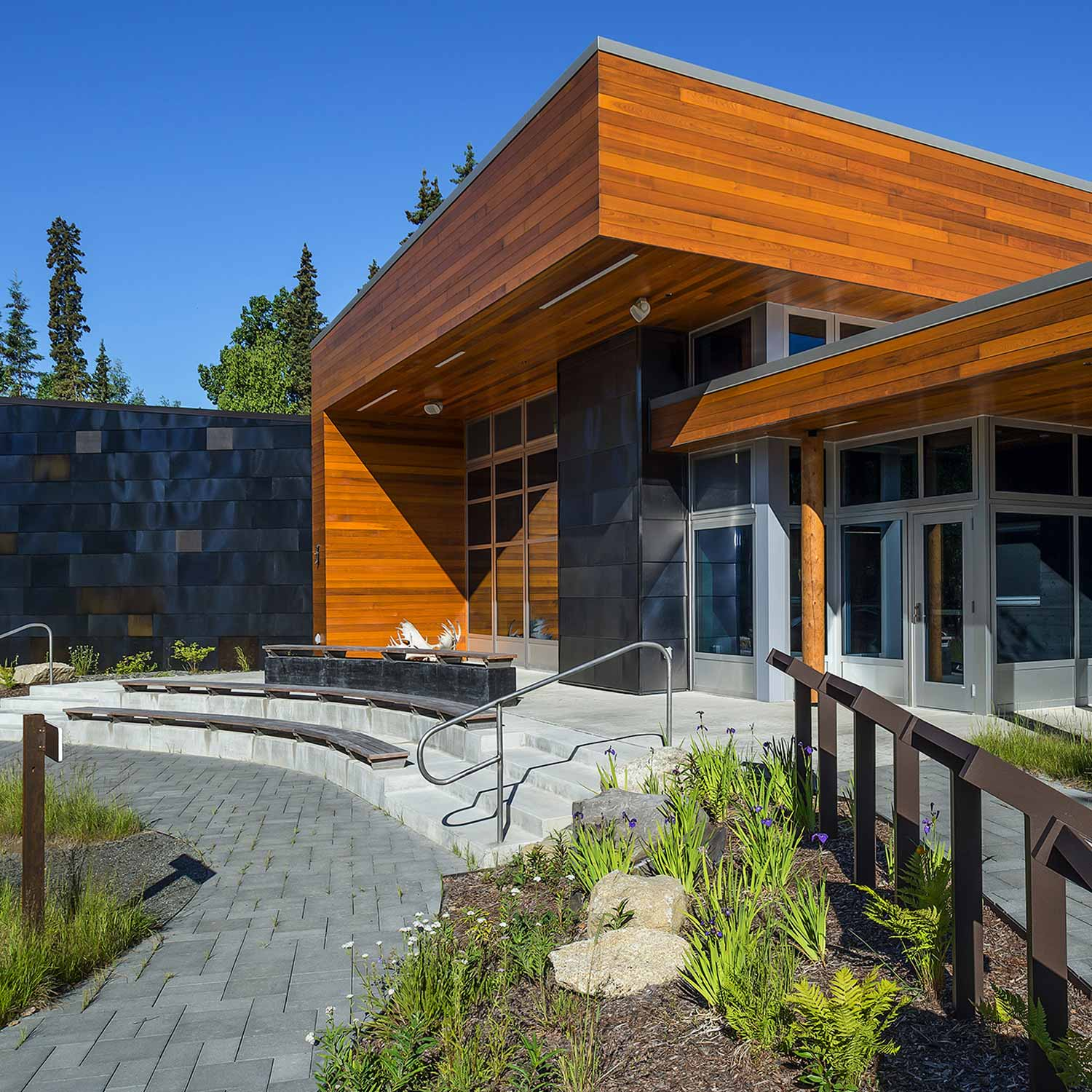 Government design for Kenai National Wildlife Refuge Visitor Education Center in Soldotna, Alaska